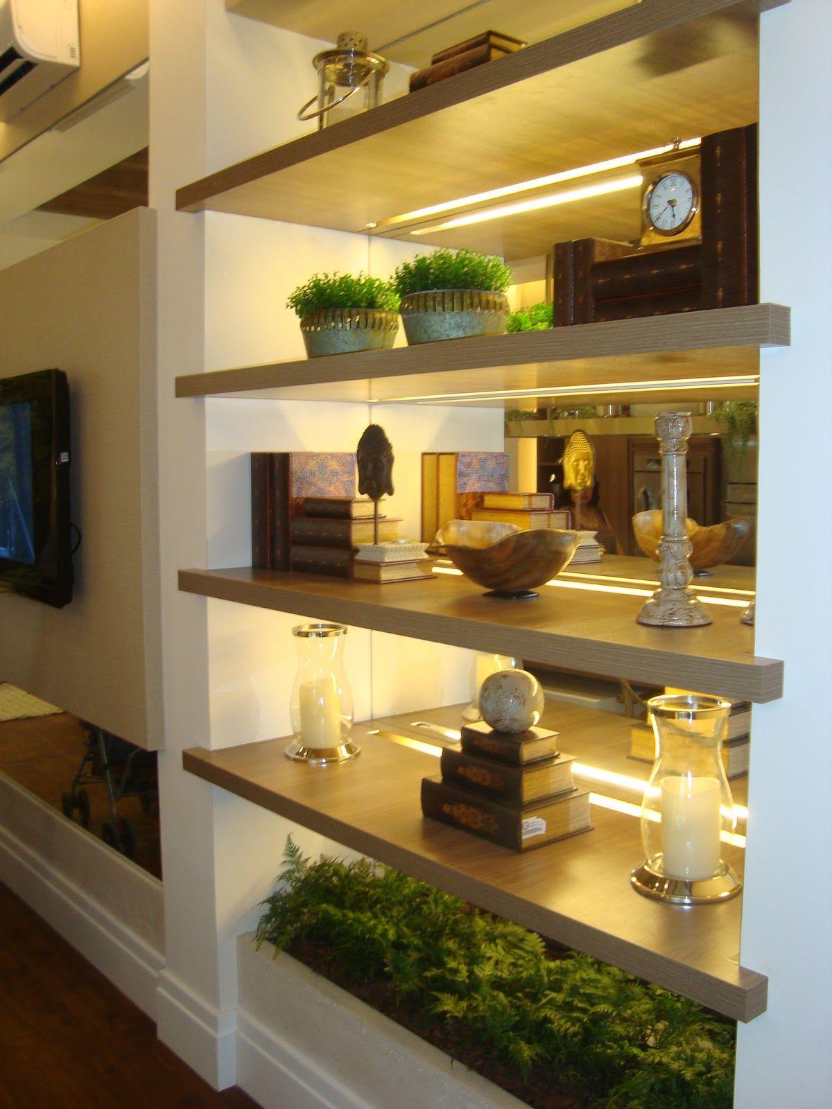 Decoração: Prateleiras na Sala - Cores da Casa | dom | Pinterest ...