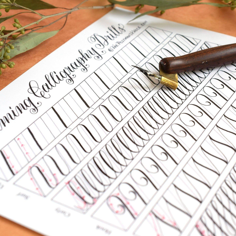 11 Calming Calligraphy Drills Printable The Postman S
