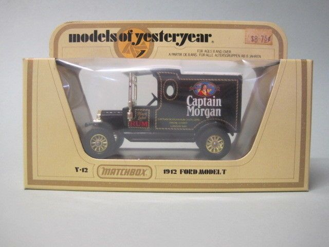 Matchbox Models Of Yesteryear Y12 1912 Ford Model T Captain Morgan