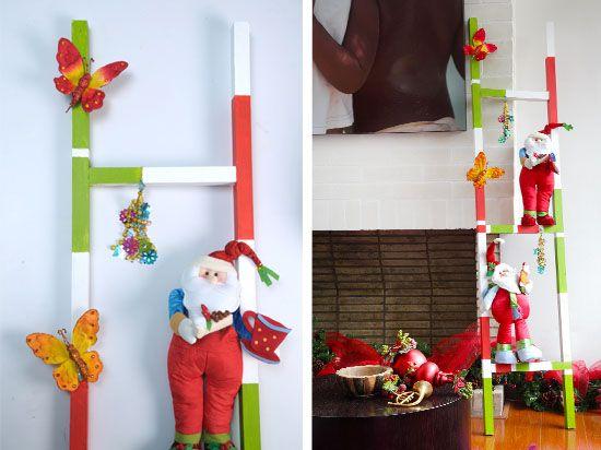 Escalera navide a con mu ecos paso a paso vive tu casa - Decoracion navidena escaleras ...