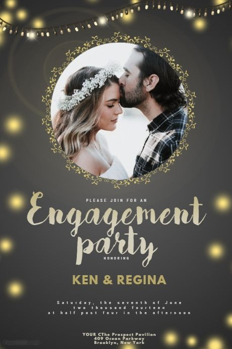 Engagement Party Flyer Template PosterMyWall Wedding - engagement party templates