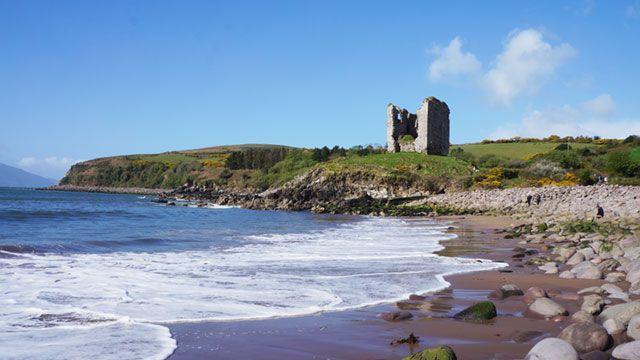 Minard Castle, Kerry Camino, Dingle Peninsula, Ireland  http://irelandways.com/wild-atlantic-way  #WildAtlanticWay #hiking #cycling #Ireland #Kerry #Dingle #travelinspiration #travel