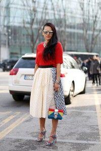 Street Style, Autumn Winter 2014, Milan Fashion Week, Italy - 22 Feb 2014