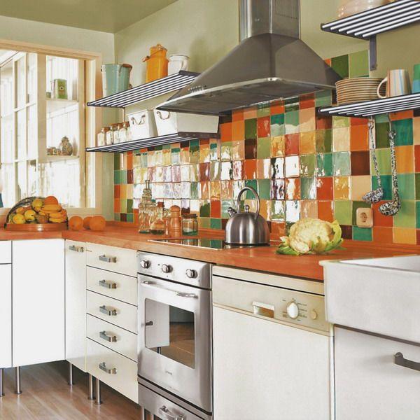 multicolor-tile-backsplash-kitchen-tour1-1 (600x600, 294Kb) | cocina ...