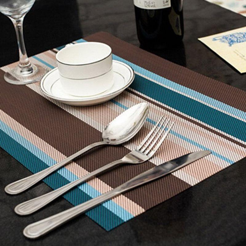 4pcs Lot Placemats 3045cm PVC Placemat Bar Mat Plate Table Set