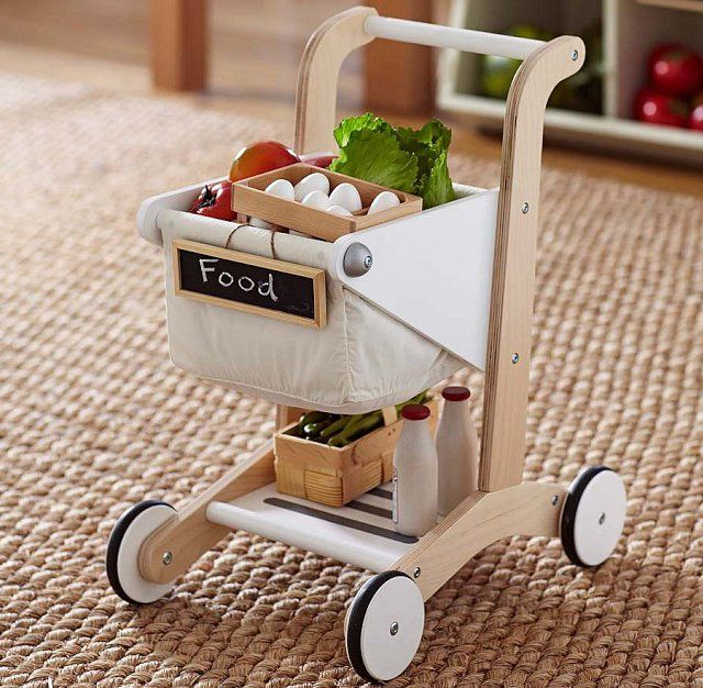 Fancy Wooden Shopping Cart Wood Toys Woodworking Toys