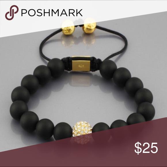 Matte black bean bracelet Beautiful for fashion Bean bracelet Accessories