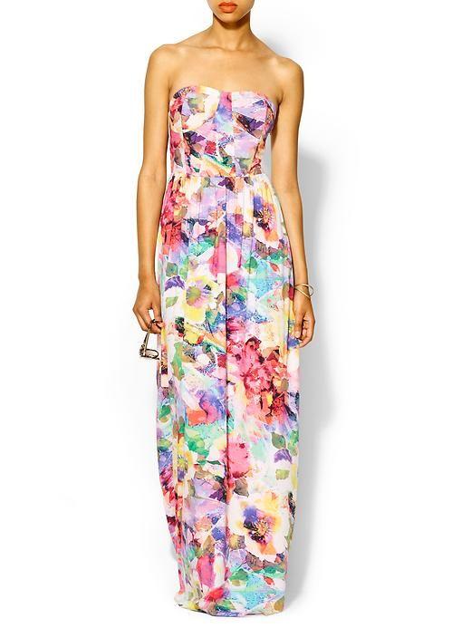 Floral maxi dress $79