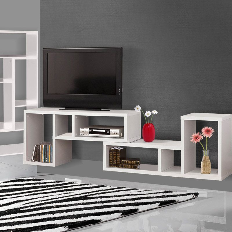 2pc Versatile L Shaped Display Side Tables In White | Buy Living Room Tables
