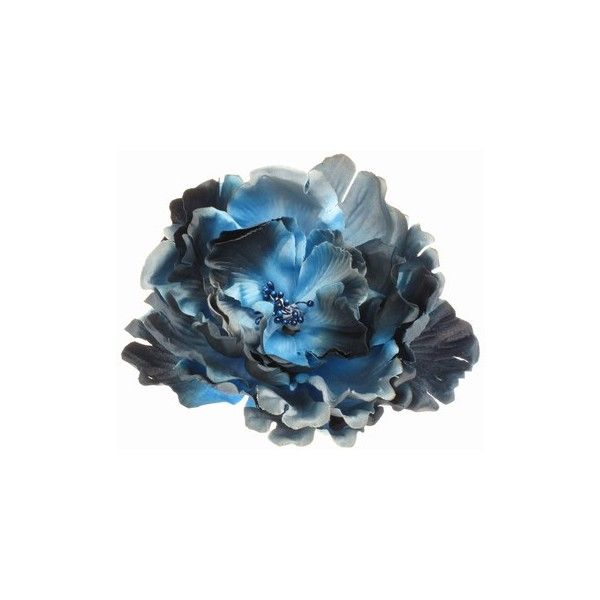 Rich Navy Blue Flower Hair Clip / Corsage ($8.83) ❤ liked on Polyvore