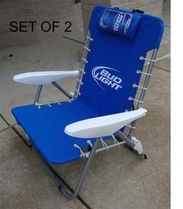 Delicieux Bud Light Nylon Chair Beach (Set Of 2)