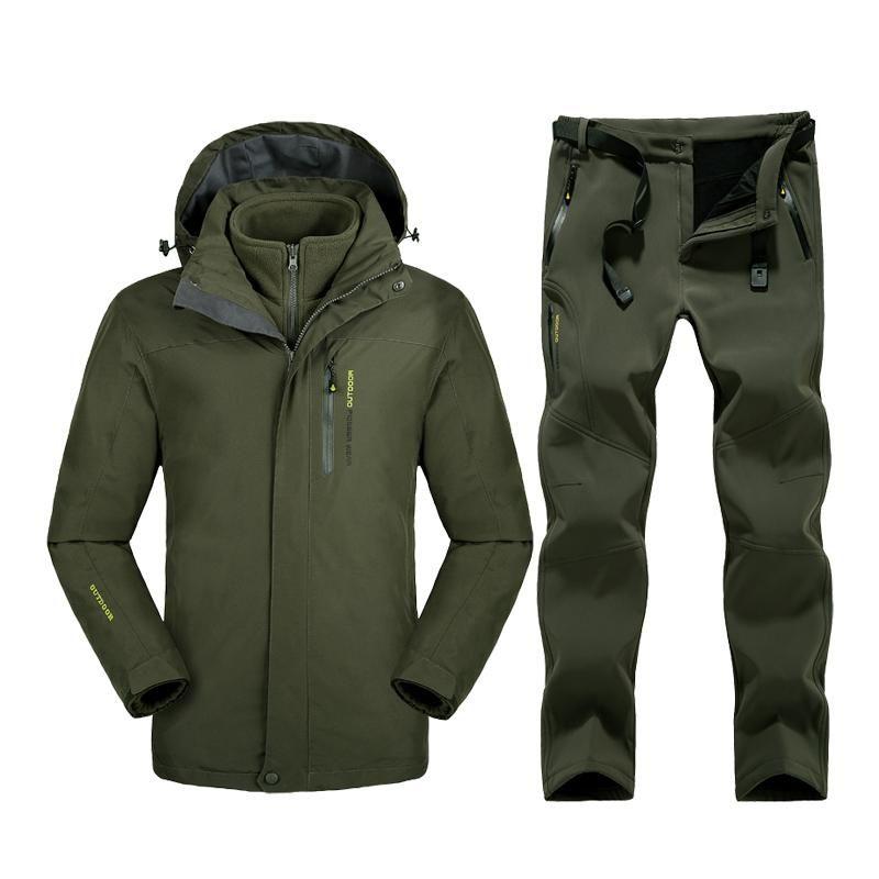 Men Raincoat Jacket Casual Coat Waterproof Outdoor Plus Size Tops Hiking Hoodie