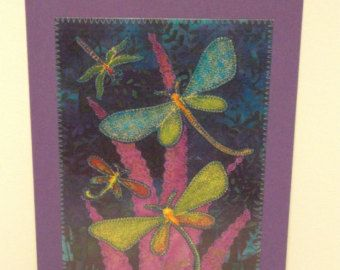 Dragonfly Birthday Card Mom Friend Him Her by postquiltcards