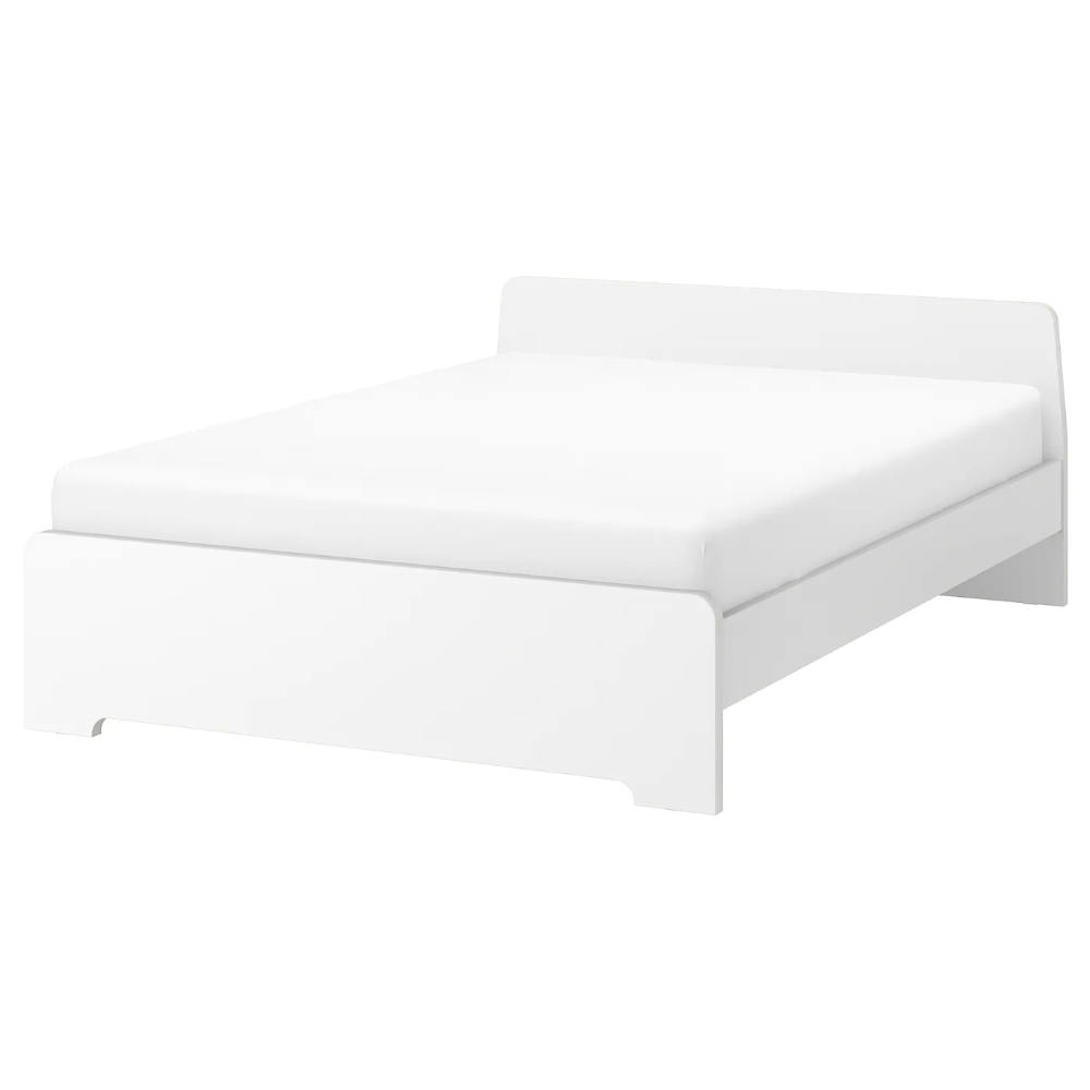 Askvoll Bed Frame White Full In 2020 With Images Bed Frame With Storage Bed Frame Upholstered Bed Frame