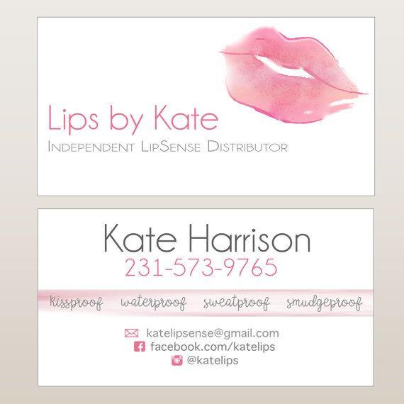 LipSense Business Cards on Etsy!!   wwwetsy/listing - lipsense business card
