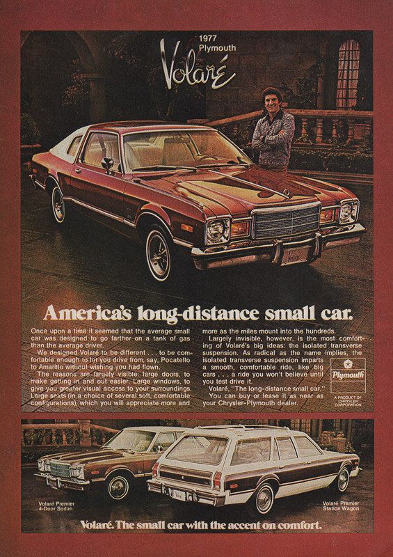 1977 PLYMOUTH VOLARÉ Original Car Ad America's by phorgotten