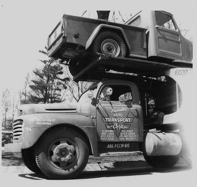 KAT Ford F-7 | Oldies - Auto Transporter | Trucks, Ford ...