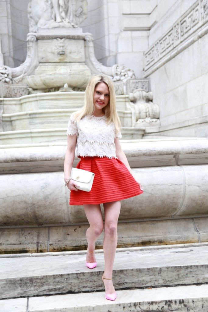 K T Reed - Ktrcollection Full Skirt, Christian Louboutin Nude Pumps, Ardenb Floral Crop Top