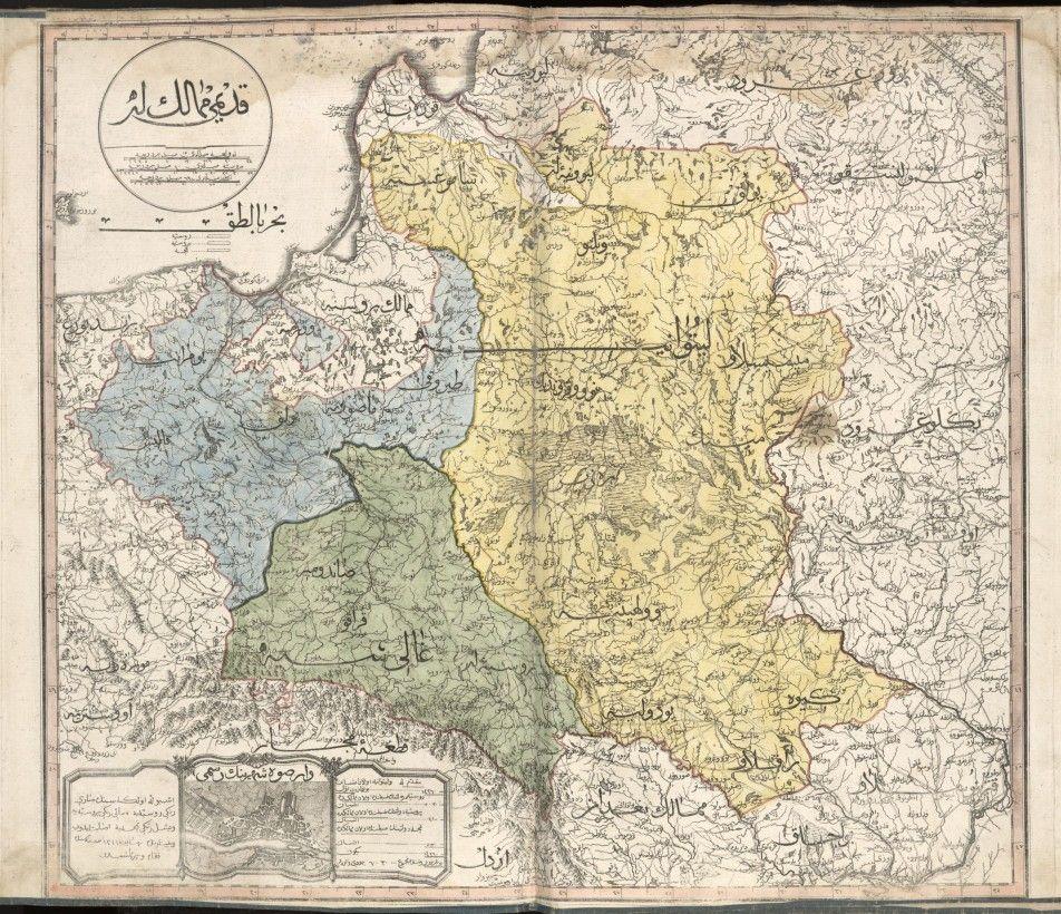 Le Cedid Atlas Le Premier Atlas Moderne Du Monde Musulman Map Ancient World Maps Poland Map