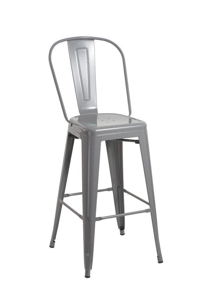 Tabouret de bar industriel en metal le repos avec GRIS Duhome TYPE 9-636  chaise 1a93a5bf872d