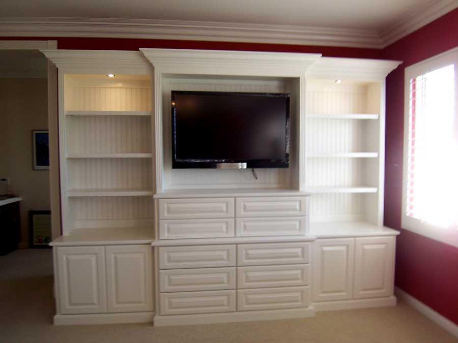 White Bedroom Entertainment Center