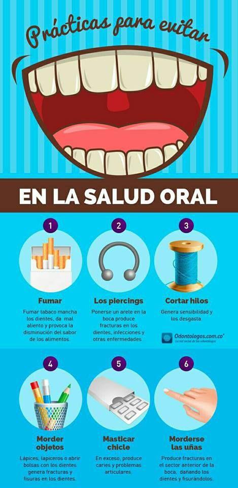 Si tu salud oral quieres cuidar, estas prácticas debes evitar #OdontólogosCol #Odontólogos