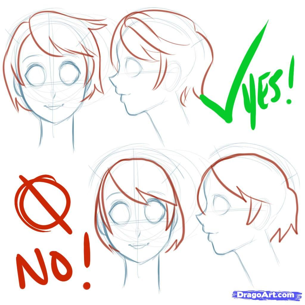 How To Draw Manga Heads by PuzzlePieces Manga drawing