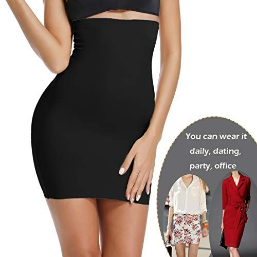 d82d257929a1 Half Slips for Women Under Dresses High Waist Slimming Tummy Control Skirts Strapless  Seamless Shapewear,