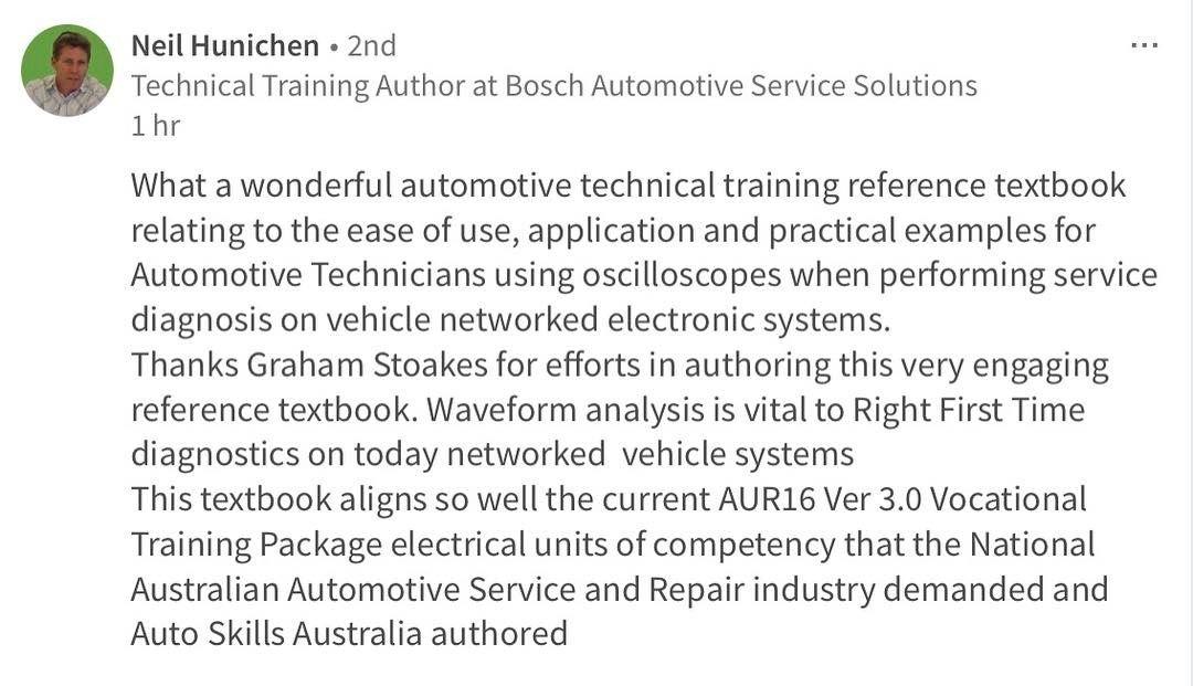 automotive oscilloscope waveform analysis by