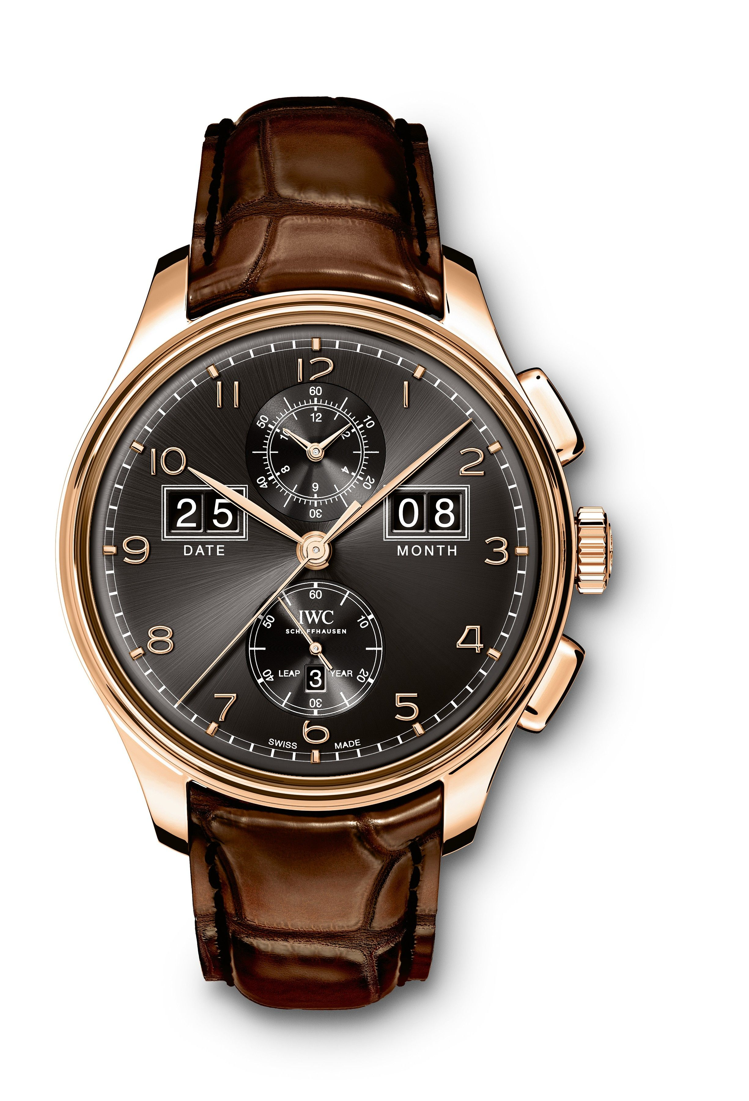 "#IWC Portugieser Perpetual Calendar Digital Date-Month Edition ""75th Anniversary"" Rose Gold #Watch"
