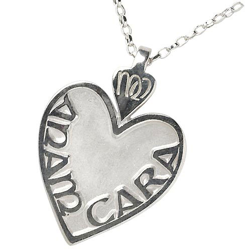 Large Sterling Silver Mo Anam Cara Pendant Necklace