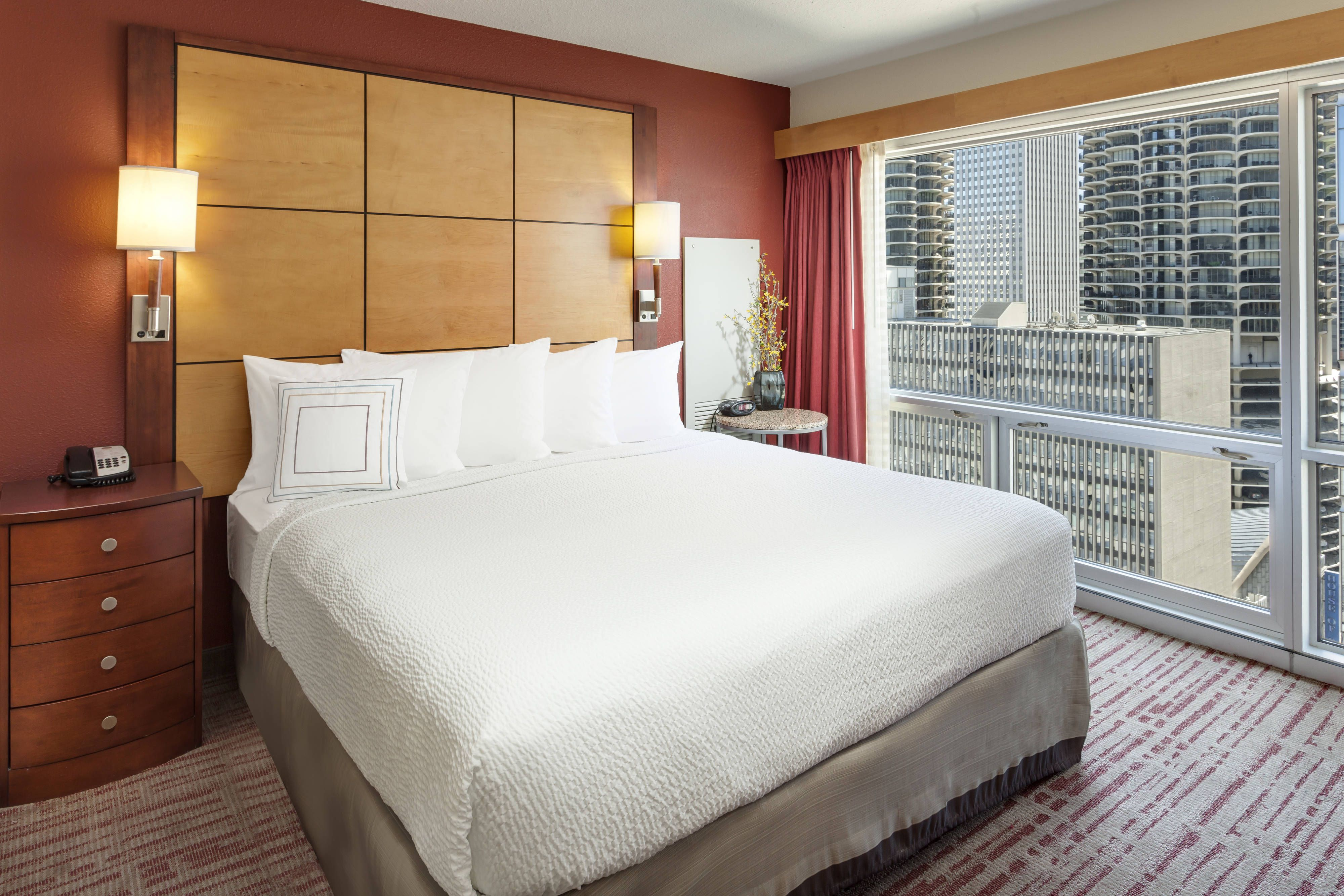 Residence Inn Chicago Downtown/River North Two Bedroom Suite   Sleeping  Area #travel, #comfortable, #hotel,
