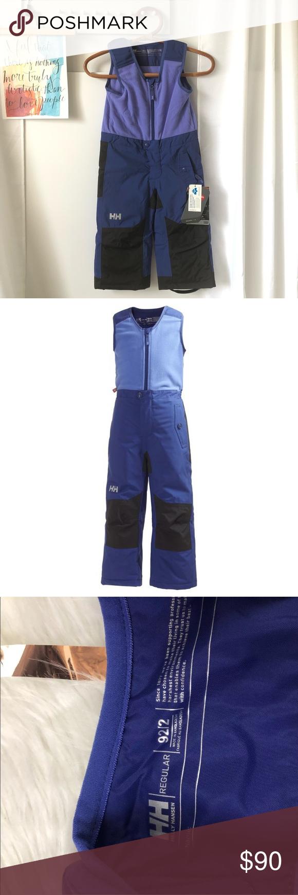 NEW Helly Hansen Purple K Powder Bib Snow Pants 2T NEW