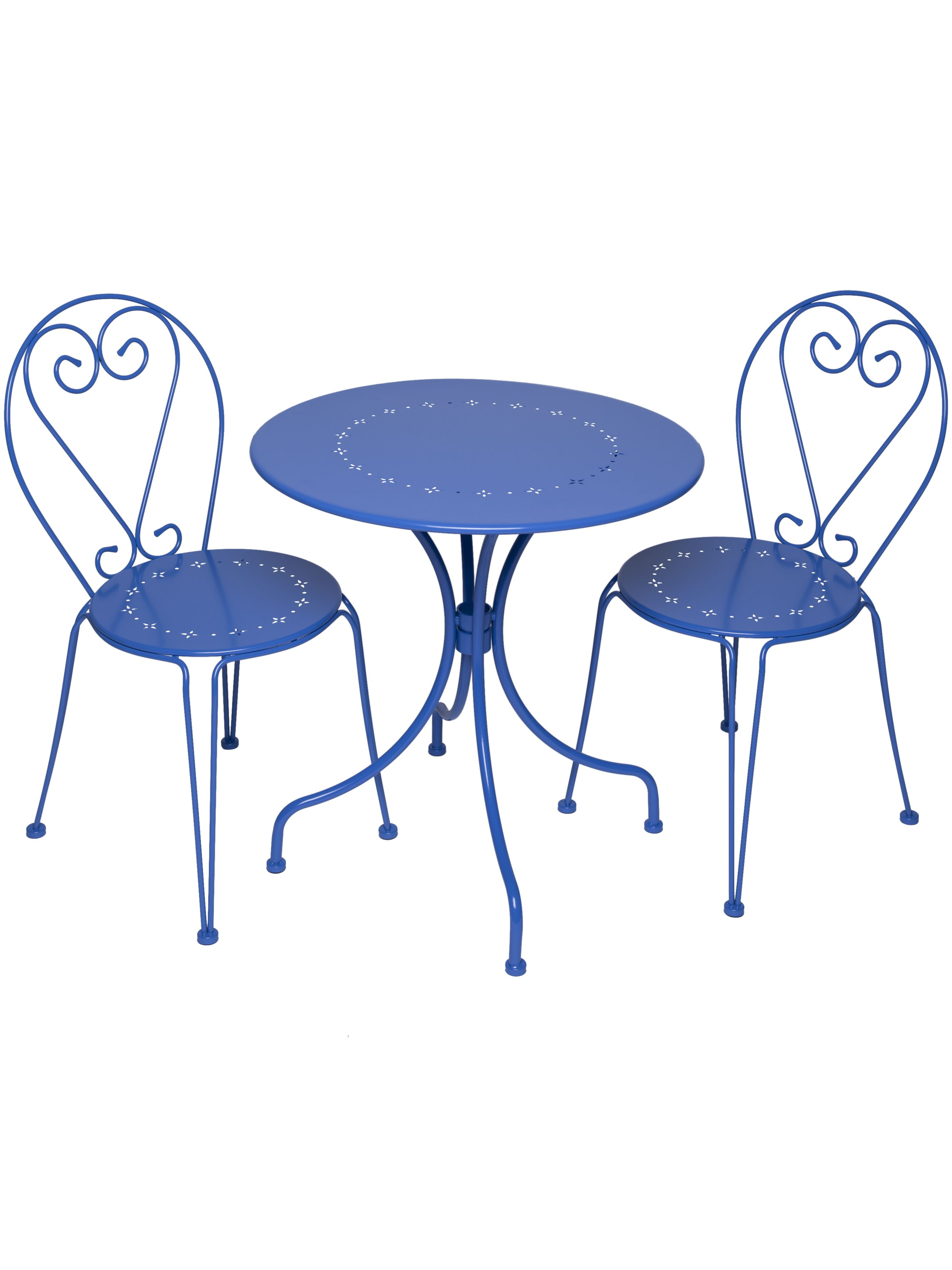 Love this bright blue bistro set for the outdoor patio. | Taller ...