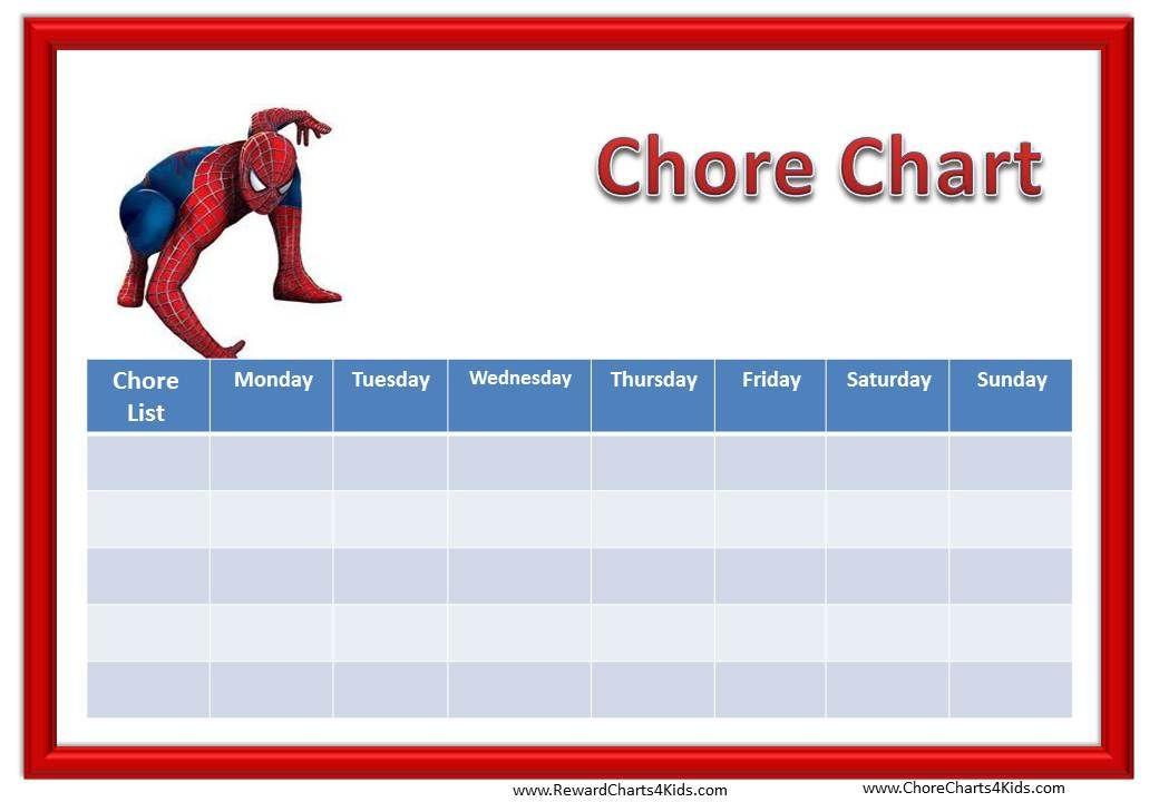 Spiderman Chore Chart