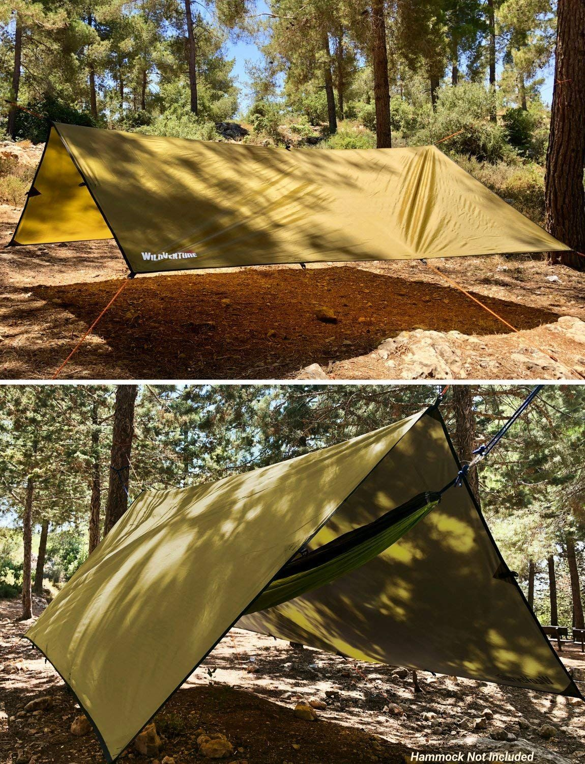 a06b3197e20 Amazon.com  WildVenture Tent Tarp Rain Fly - Waterproof Lightweight  Survival Gear Shelter for Camping