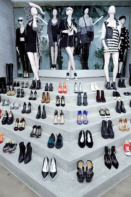 #omgshoes the shoe salon at Nasty Gal Melrose