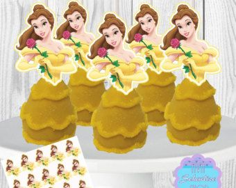 Disney Princess Cake Pop Toppers Cupcake by AvaScharlizeShop