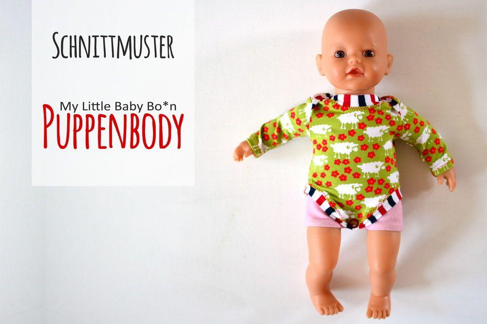 Puppenbody {Schnittmuster} (Liebeling) | Baby born, Onesie pattern ...