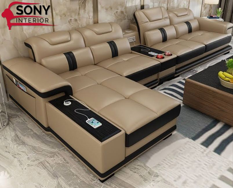 Modern Designs L Shaped Sofa Set Living Room Sofa Set Leather