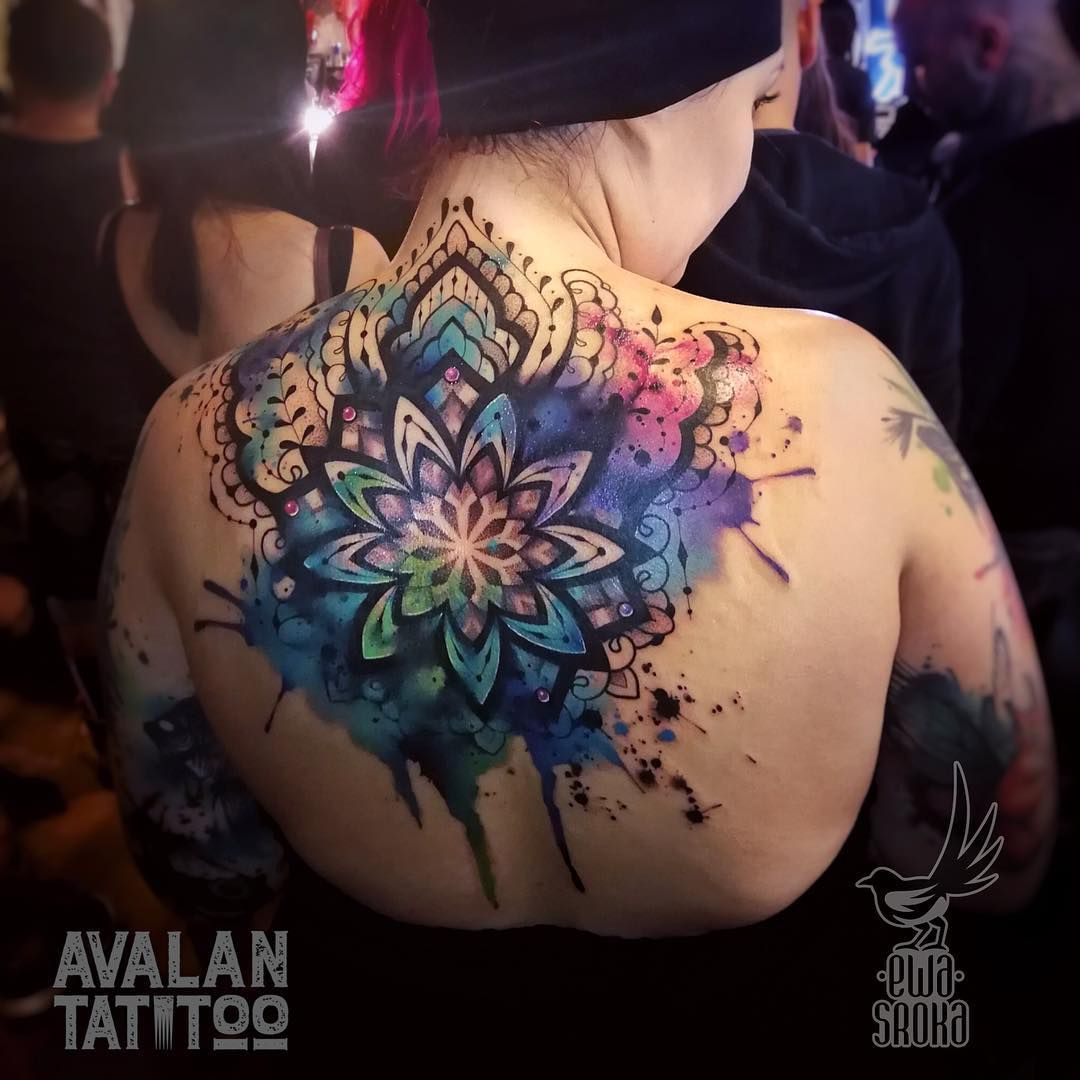 Tattoo Mandala Watercolortattoo Tattoos Mandalas Tatuajes