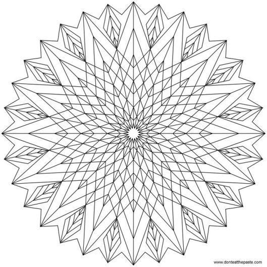 Dont Eat The Paste Star Mandala To Color