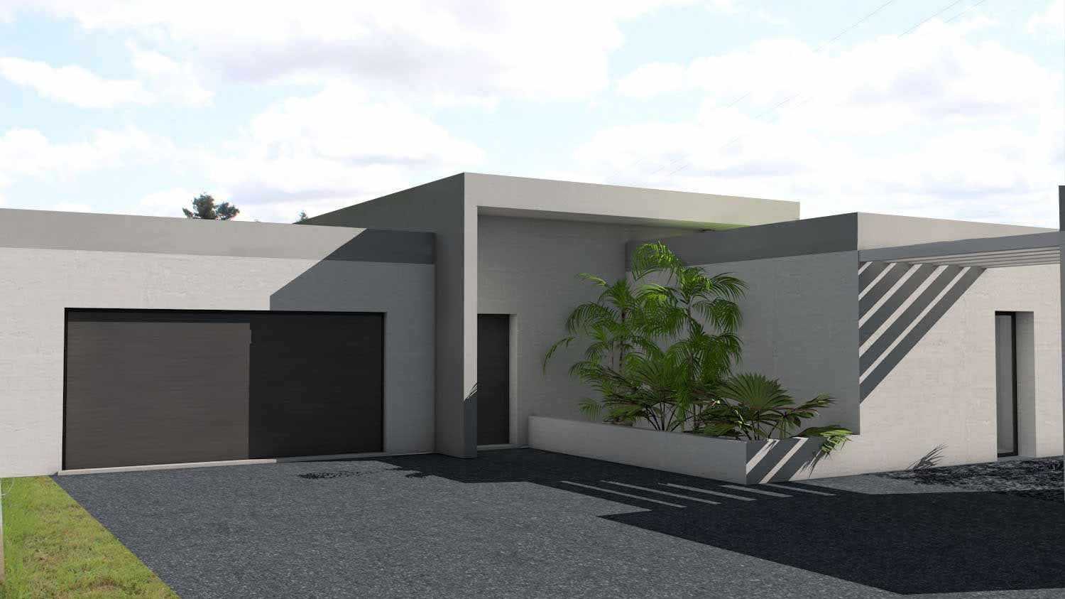 Atelier d 39 architecture sc nario maison contemporaine en for Entree maison contemporaine
