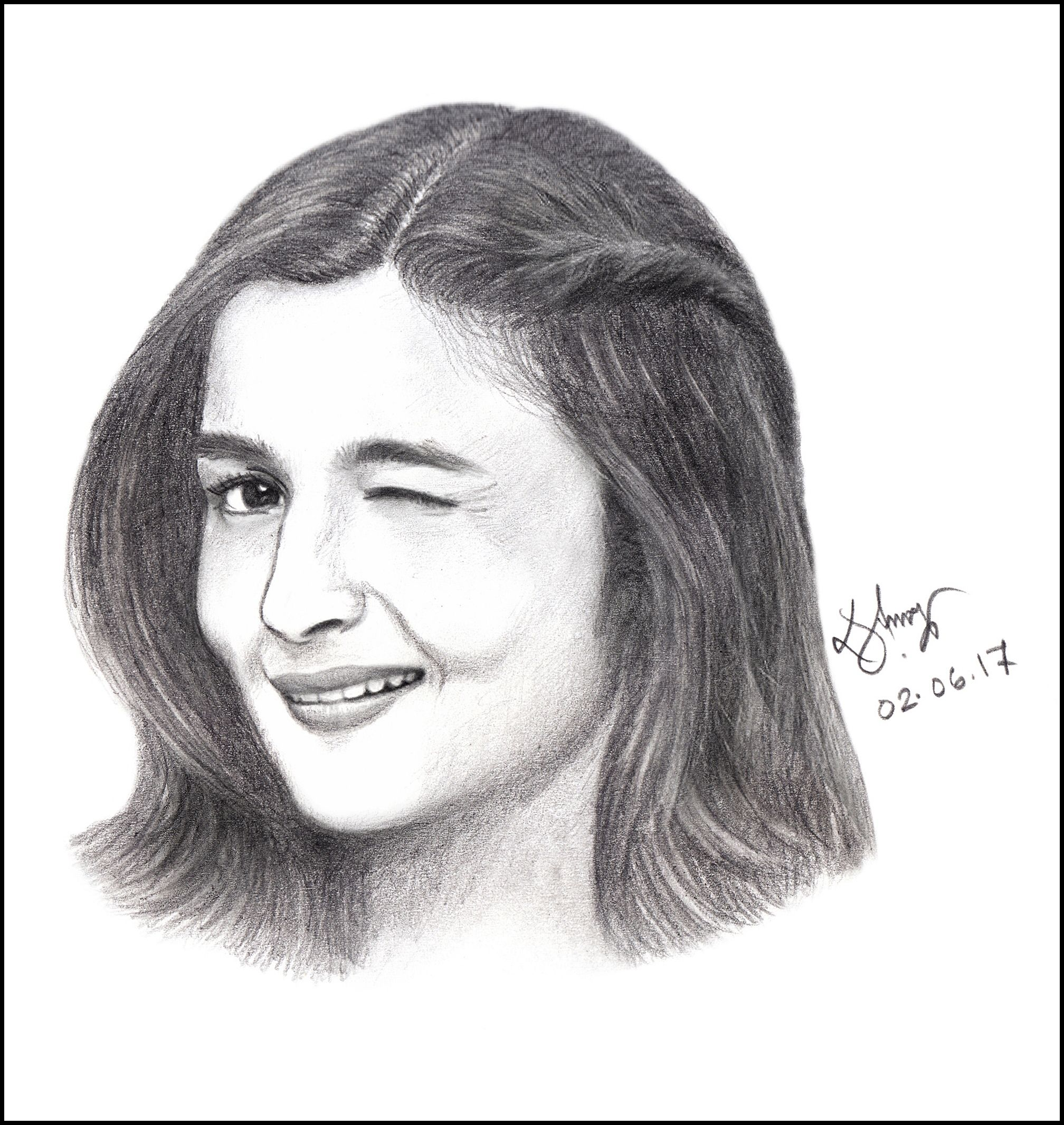 Alia bhatt sketch alia aliabhatt pencilsketch art sketch drawing portrait