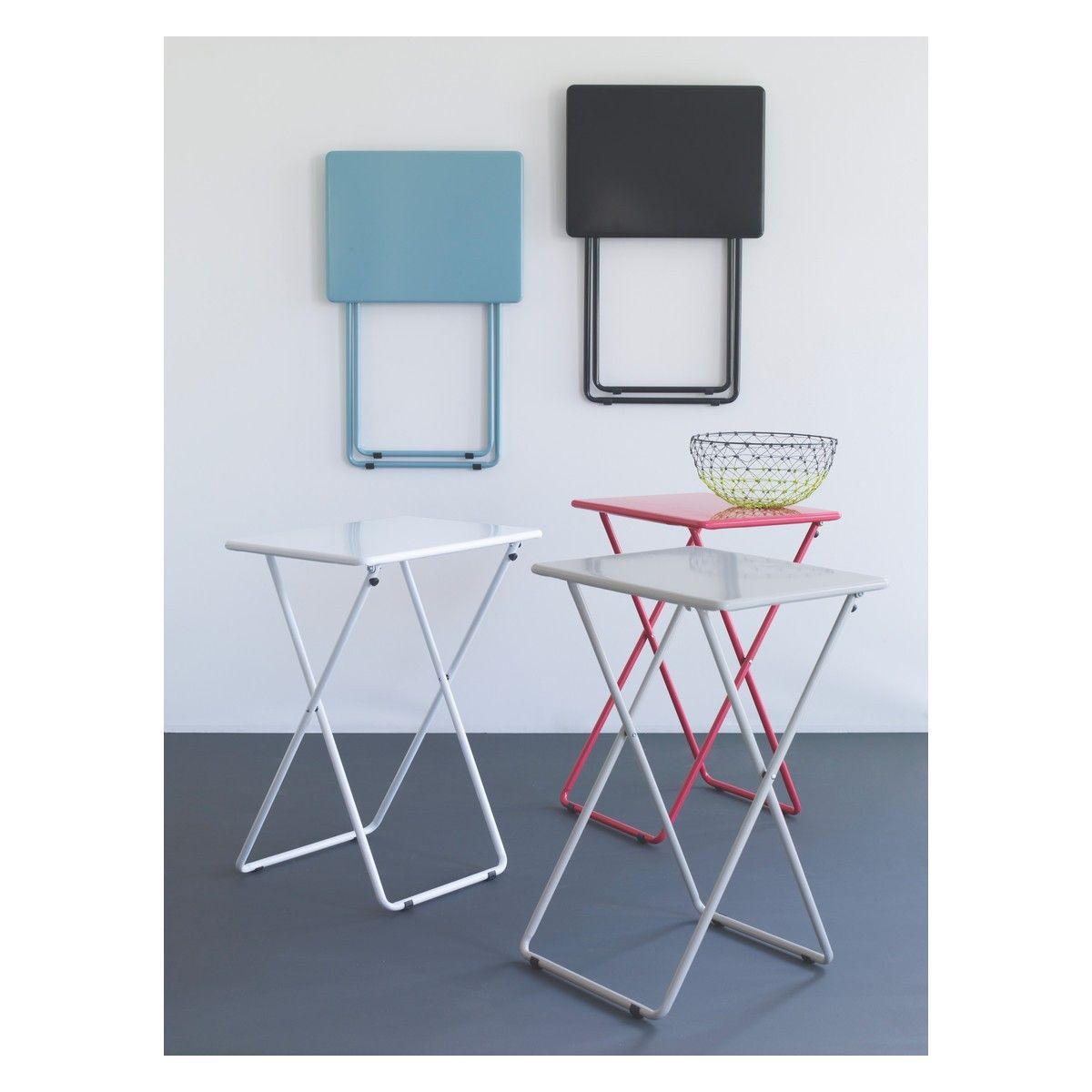 AIRO Sea Blue Metal Folding Table