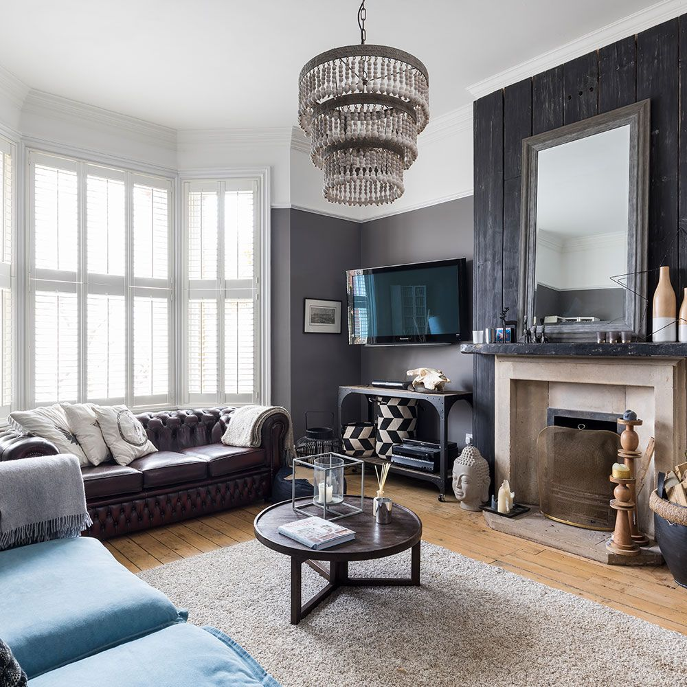 Take A Look Around This Edwardian Villa Apartment In Surrey Dark Living Rooms Livingroom Layout Small Room Design