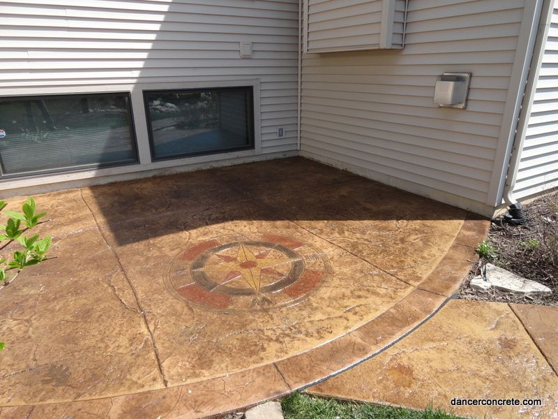 Resealing Stamped Concrete Lawn Care Cement Patio Concrete