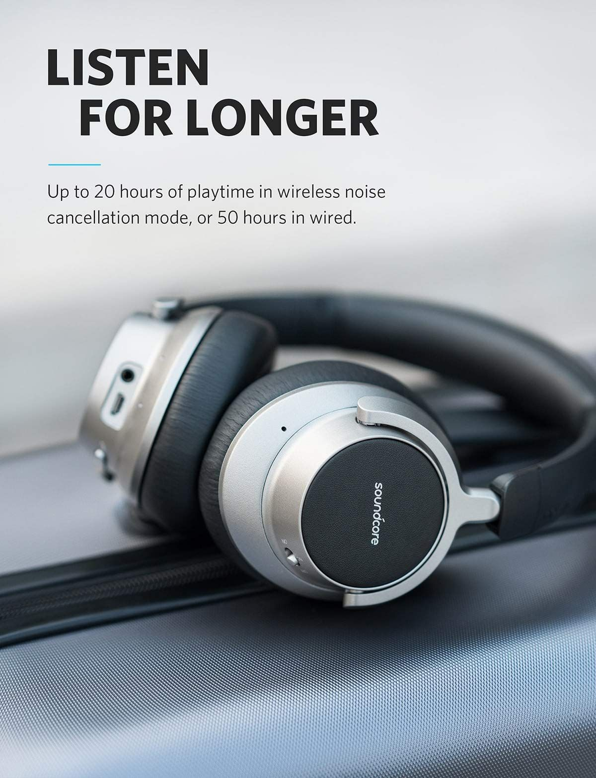 24661a29dd3 Anker Soundcore Space NC Wireless Noise Cancelling Headphones with Touch  Control, 20-Hour Playtime, Foldable Design for Travel, Work, and  Home,#Cancelling, ...