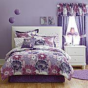purple flowers (would look good in her room)