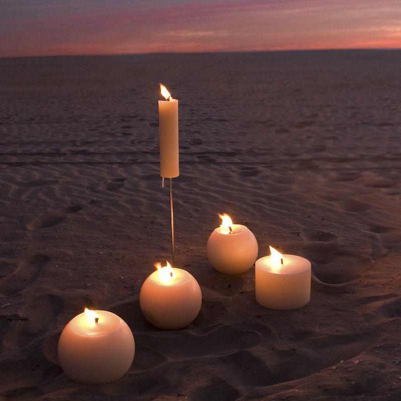 Velas Macizas Cilindrica Para Exterior Eventos Y Decoracion - Velas-para-exterior